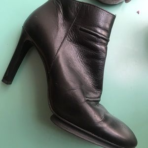 DKNY leather booties